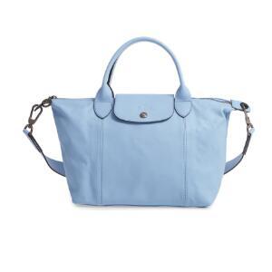 Longchamp珑骧 LE PLIAGE CUIR系列小羊皮小号饺子包 冰蓝色 4折$226