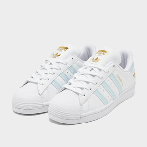 补货!Adidas阿迪达斯Superstar 蓝杠金标贝壳头 售价$35
