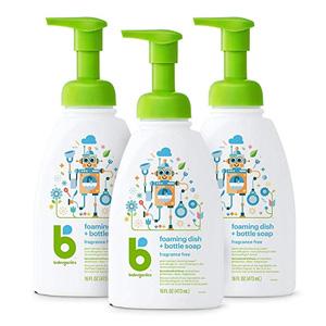 BabyGanics甘尼克 泡沫洗洁剂 无香味 473ml*3 到手新低价¥80.98