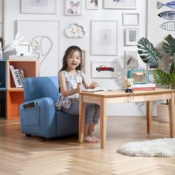 99大促、疯狂星期三: KUKa 顾家家居 潜水艇真皮儿童沙发 899元包邮(需用券)