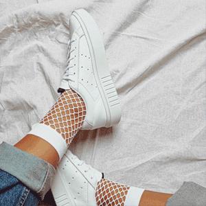 降价!Adidas Sleek Super 女款厚底白色运动鞋 折后价$20