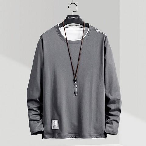 La Chapelle 拉夏贝尔 男士舒适假两件长袖卫衣 *2件 114元(需用券,合57元/件)