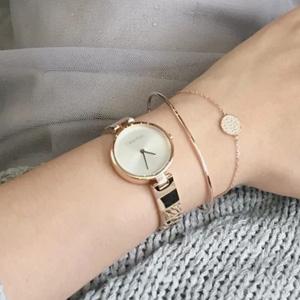新色补!CALVIN KLEIN Authentic不锈钢表带石英手表玫瑰金 K8G23646 折后价$54.99