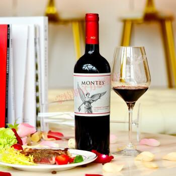 montes 蒙特斯 经典系列赤霞珠干红葡萄酒 750ml*6 298元包邮(满减优惠)