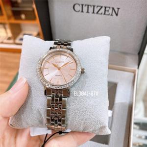 Citizen西铁城 EL3041-87X 女士施华洛世奇水晶不锈钢石英手表 到手约¥475.13