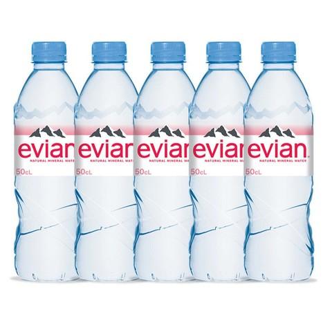 百亿补贴: Evian 依云 天然纯净矿泉水 500ml*5瓶 19.5元包邮