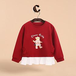 CLASSIC TEDDY 精典泰迪 女童长袖套头卫衣 67元