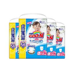 88VIP: GOO.N 大王 女宝宝维E拉拉裤 L56*4包 216.11元包邮(需用券)
