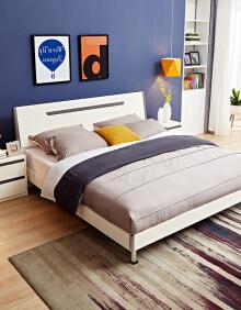 1日0点: QuanU 全友 现代简约卧室家具组合 1.5/1.8m(床+床垫+床头柜*2) 2043元包邮(前1小时)