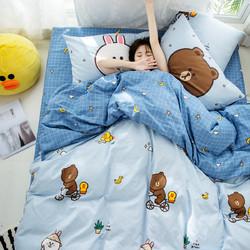 Dohia 多喜爱 布朗熊卡通磨毛儿童三件套 1.2m 299元包邮
