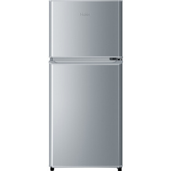 百亿补贴: Haier 海尔 BCD-118TMPA 变频双门冰箱 118L 银色 619元包邮