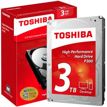 25日0点: TOSHIBA 东芝 P300系列 7200RPM 64MB 机械硬盘 3TB 459元包邮(需用券)