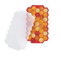 京东PLUS会员: 京东京造 硅胶冰格模具 红色 *8件 59.6元(需用券,合7.45元/件)