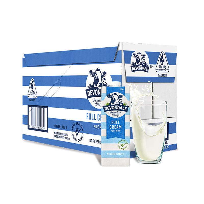 双12预售:德运(Devondale) 全脂高钙纯牛奶 1L*10盒 *3件 207元包邮(需15元定金)