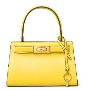 补货!Tory Burch新款Lee Radziwill手提包mini小号黄色款 6折$298.8