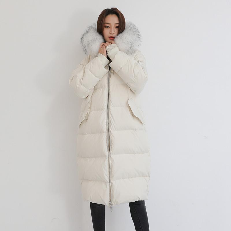 鸭鸭 DRA06B1400 女士中长款加厚羽绒服 399元包邮(需用券)