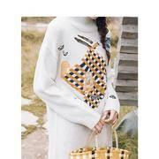 INMAN 茵曼 1884016 女士中长款高领毛衣 低至95.7元