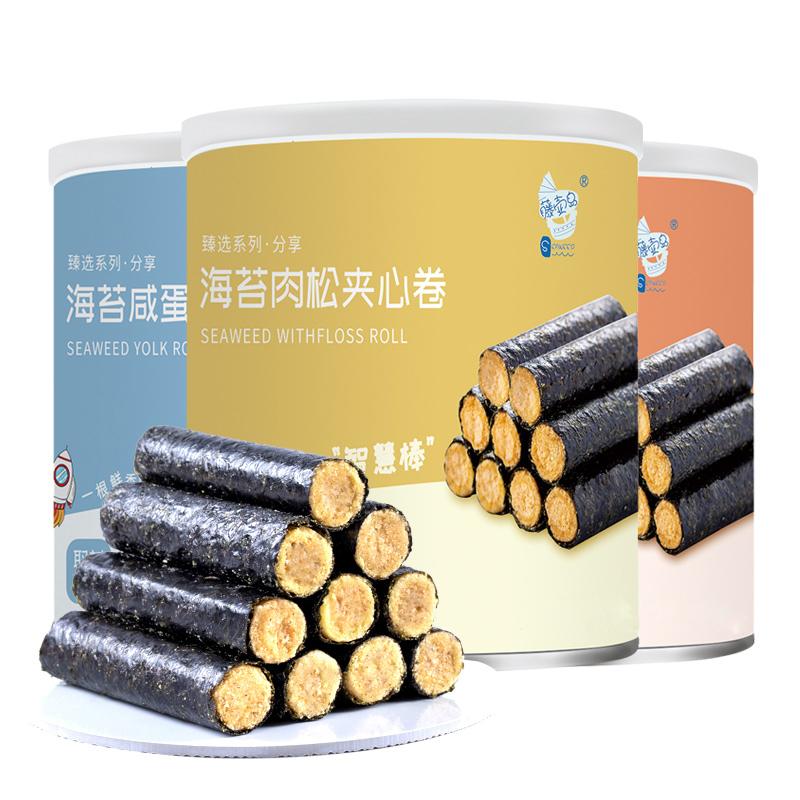 藤壶岛 海苔肉松卷 夹心海苔脆罐装100g*4 19.8元(需用券)