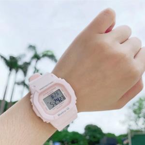低价再来!Casio BABY-G BGD-560-4ER日本樱花粉石英女表 凑单到手约¥392.51,非会员也免邮