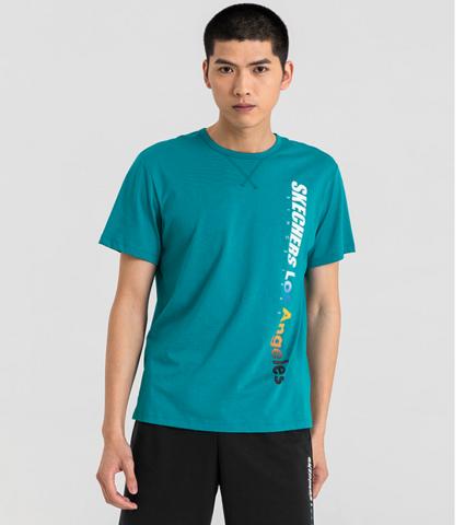 30日10点: SKECHERS 斯凯奇 L220M057-002K 男士短袖圆领T恤衫 59元