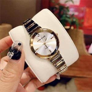 Anne Klein安妮·克莱恩 AK/2435SVTT 女士双色表链极简镶钻腕表